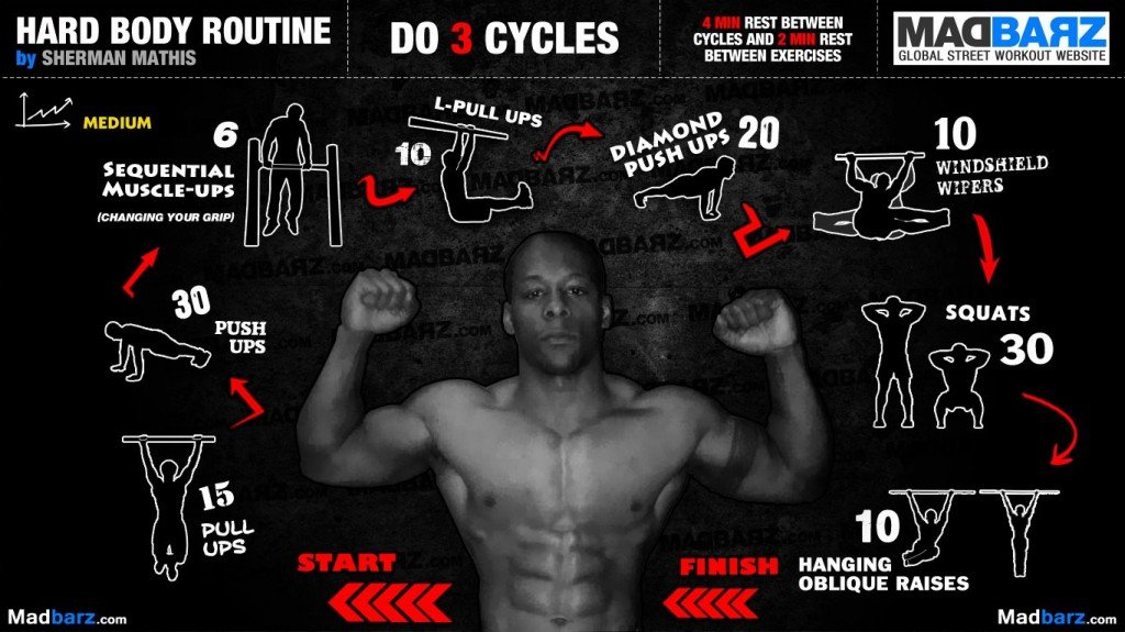rutina full body hard body routine